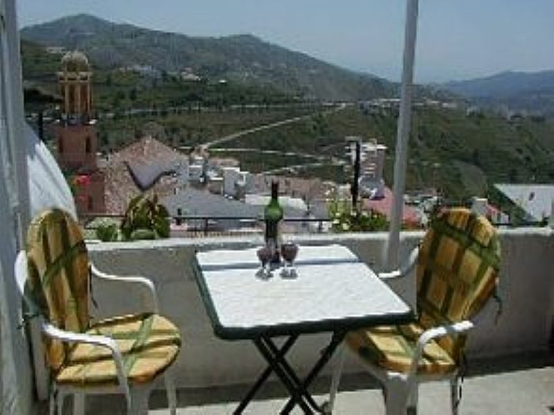 Village house in Spain, Competa: The roof terrace with breathtaking views