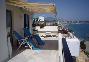 Penthouse Apartment in Spain, Torrenueva: View from the balcony overlooking the beach