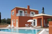 Villa in Greece, Keramies: Villa Aura, view of pool and patio area.