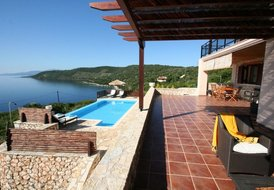 LAST MINUTE seafront villa RISING SUN,6+1,private pool
