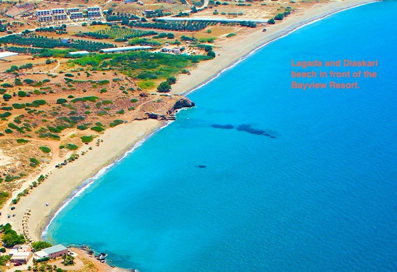 Penthouse apartment in Greece, Lagkada: Great beaches in front of the resort with very idyllic tav..