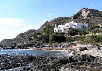 Villa in Spain, San Juan de los Terreros: Villa set on beach in semi-private cove