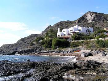Villa in Spain, Águilas: Villa set on beach in semi-private cove