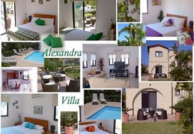 ALEXANDRA VILLA -  WITH WIFI IN PROTARAS WITH POOL