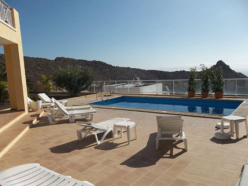 Villa in Spain, Playa de las Americas: Private terrace with heated pool