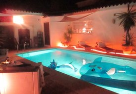 Stylish holiday villa with private heated pool !