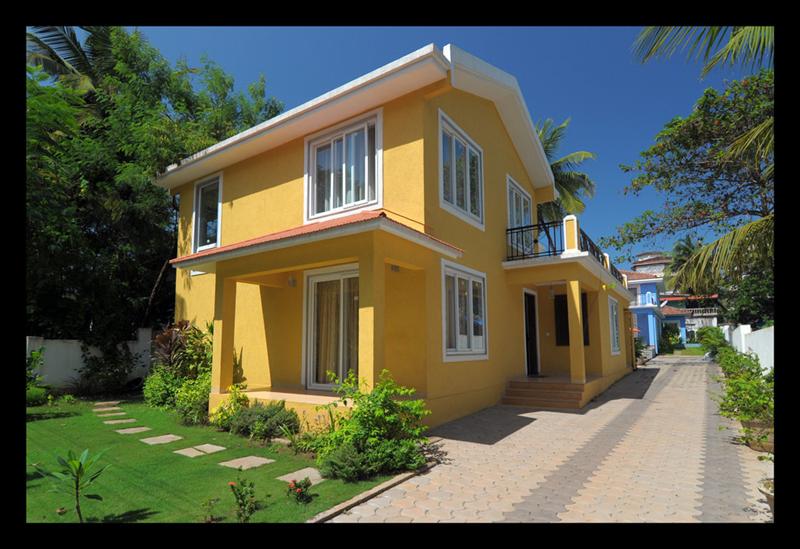 Villa in India, Candolim: The Yellow Villa