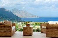 Villa in Italy, Scopello: view from veranda