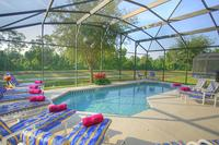 Villa in USA, Emerald Island: South facing private pool with outstanding lake and conservation view