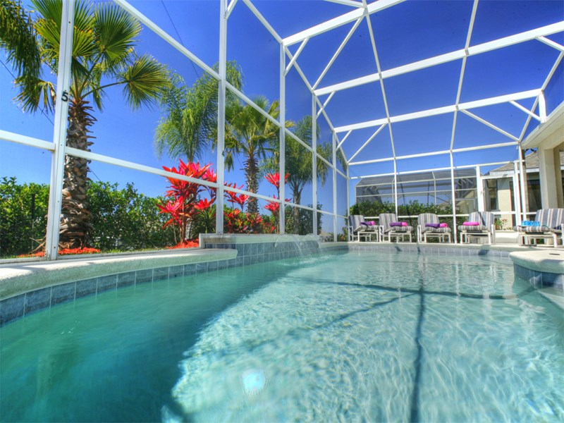 Villa in USA, Highlands Reserve Golf course: Pool with South - West Exposure large deck, lanai