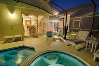 Villa in USA, Glenbrook: Pool Dining area by night