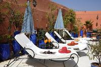 Riad in Morocco, Medina: Our sunny roof terrace with sunbeds