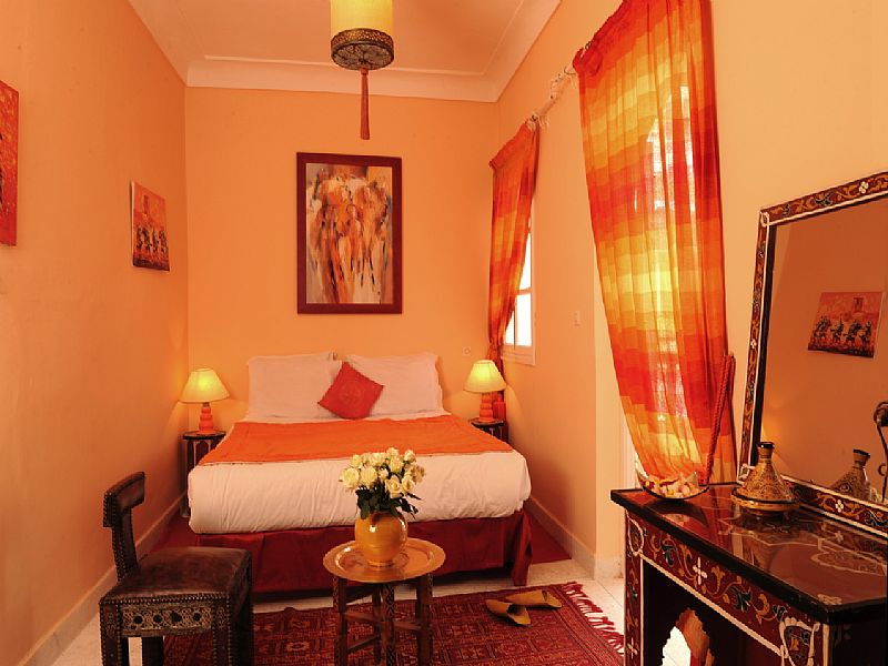 Riad in Morocco, Medina: Chems double bedroom