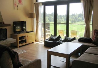 Chalet in Bulgaria, Borovets: Living Area with open fireplace