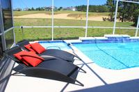 House in USA, Highlands Reserve Golf course: Pool with Contemporary Furniture overlooking Golf