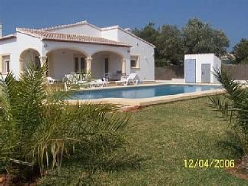 Villa in Spain, Javea: House and pool view