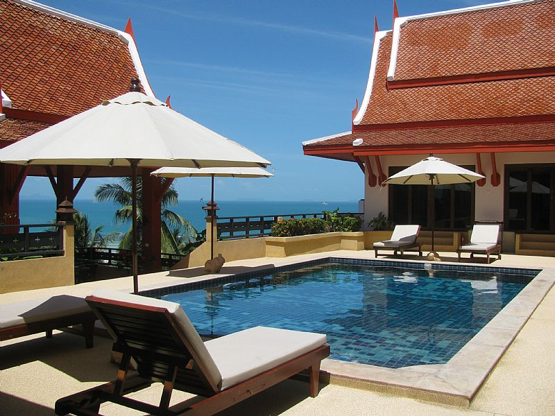 Villa in Thailand, Nathon: View of Pool deck & Bedrooms 1-2