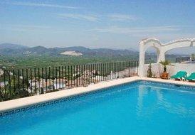 at the villa with fantastic views