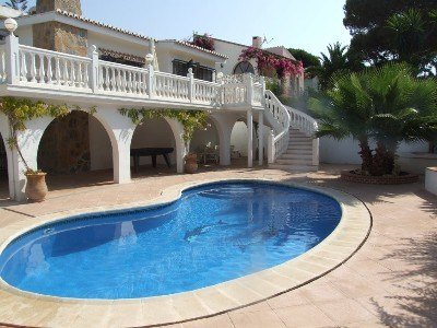 Villa in Spain, Miraflores: Pool area.