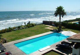 Luxury self catering holiday villa first line beach Marbella