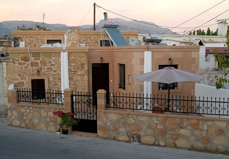 House in Haraki, Rhodes: Aphrodite Tradithional House from the road- terrace for relaxing (soon ne..