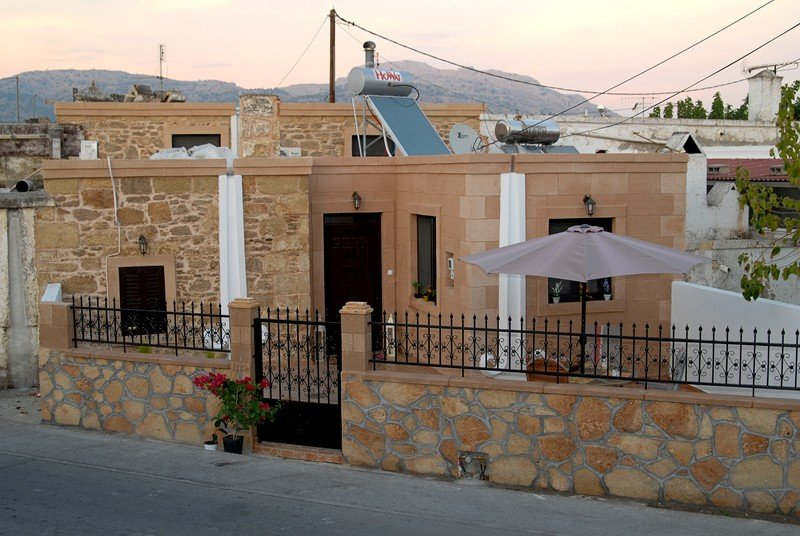 House in Greece, Haraki: Aphrodite Tradithional House from the road- terrace for relaxing (soon ne..
