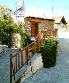 Cottage in Cyprus, Villages: The Old Mill House with Byzantine Church behind