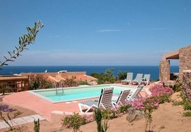 Villa La Sorgente Sardinia with stunning view and heated pool