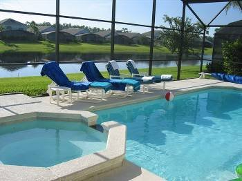 Villa in USA, Lake Berkley: Screened pool/spa overlooking Lake