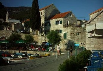House in Croatia, Island of Brac: Harbour House from the harbour.