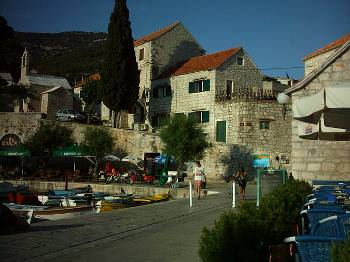 House in Croatia, Island of Brac: Harbour House from Big Blue.