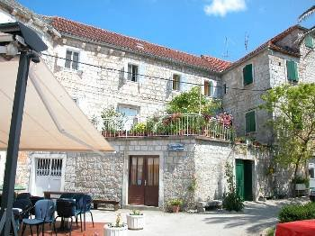 Village house in Croatia, Postira: Orange Grove House from the Harbour