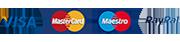 Visa Mastercard Maestro PayPal